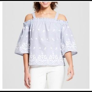 A New Day Light Blue Floral Tunic Top